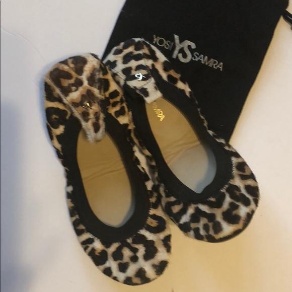 Yosi Samra Calf Hair Leopard Ballet